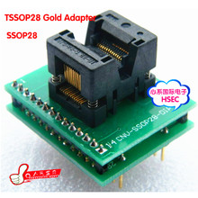 Top Quality TSSOP28 to DIP28 Adapter socket / TSSOP24 TSSOP20 TSSOP8 Adapter IC Test Socket Programmer adapter 0.65mm Pitch(China)
