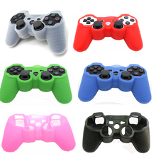 6 Colors Game Controller Anti-Slip Silicone Case Protective Skin Cover For PS3 Console For Sony PlayStation 3 Controller