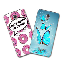 ZTE V7 Grid Cartoon Painted Cute Phone Case coque ZTE Blade V7 Case 5.2 inch Soft Silicone Cover Funda ZTE Blade V7 V 7+Gift