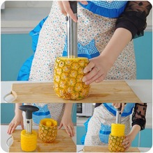 1pc Hot Sale Stainless Steel Fruit Pineapple Corer Slicers Peeler Parer Cutter Ananas Zester Kitchen  Easy Tool