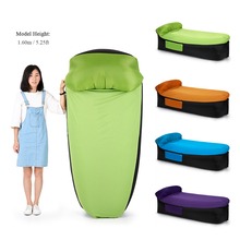 Inflatable Sofa Air Bed Camping Sleeping Bag Air Lounger Chair Couch Mattress Seat Couch Lazy Bag Beach Bed Backyard Home