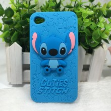 3D Cartoon Cuties Stitch Silicone Soft Back Cover Phone Cases For Ipod Touch For iPhone 4 5 6 7 4g 5g 6G 4S 5S 6S Plus SE T4 T5