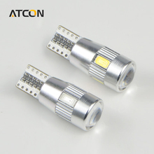 1X Ultra Brighter 12V CANBUS T10 W5W Auto LED Car light with Projector Lens Bulb DRL Fog Interior Parking No Error lamp 194 168