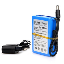 EU Plug DC12300 DC 12V 3000mAh Portable Li-ion Rechargeable Polymer Power Battery Pack with AC Wall Charger(China)