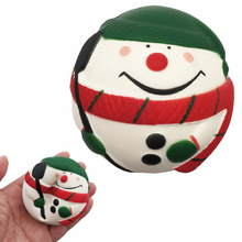 Mini Cute Christmas Snowman Mobile Phone Strap Soft Squishy Slow Rising Pendant Straps Toys Stress Relief Gift 7cm(China)