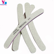 4Pcs Nail File Set Grey 80/80 Sanding Nail Buffer Professional Salon Nail Files Curve Banana Nail Tools Supplier Wholesale 2016(China)
