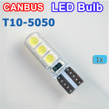 flytop T10 194 W5W 6SMD 5050 Silicone shell LED Lights Bulb Canbus Car LED 1 PCS