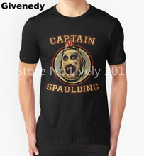 2016 Summer New Fashion Cotton Casual Short Sleeve Captain Spaulding Est. 1977 T Shirt Men Top Tees