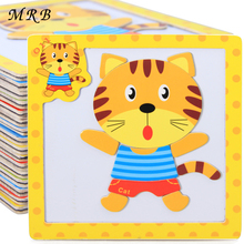 Kids Toys Cartoon Animal Traffic Magnetic 3D Puzzle Montessori Wooden Toys Tangram Child Educational Toy for Children