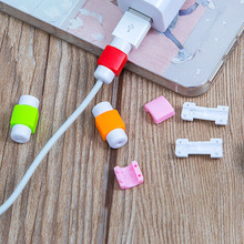 Hot Selling 20 Pieces USB Cable Protector Sleeve Mobile Phone Charger Cord Protector Silicone For IPhone Line Protective
