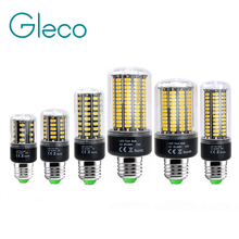 Aluminum E27 E14 LED Corn Bulb 85-265V High Brightness 5736 SMD Light 3W 5W 7W 9W 12W 15W Flicker Chandelier - Gleco Official Store store