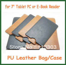 "50pcs lot via DHL  Universal 7"" Leather Case for Ainol Teclast Icoo Ampe Onda Ployer 7 inch Tablet"