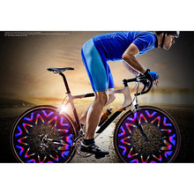 New Colorful Bike bicycle Wheel Light 16 LED Cycling Wheel Spoke Light 42 Pattern Waterproof Light