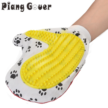Dogs Hair Massage Brush Clean Special Rubber Massage Bath Gloves Pet Grooming Tool(China)
