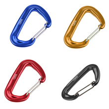 12KN Aluminium Spring Clip Carabiner For Climbing Backpack Hook Camping Hiking Equipment Safety Gear Mountaineering Accessory(China)
