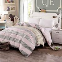 new ab duvet cover single cotton reactive printing stripe quilt cover 1 pcs bedding