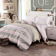 New A/B Duvet Cover Single Cotton Reactive Printing Stripe Quilt Cover 1 pcs Bedding Sets Size 160x210/180x220/200x230/220x240cm(China)