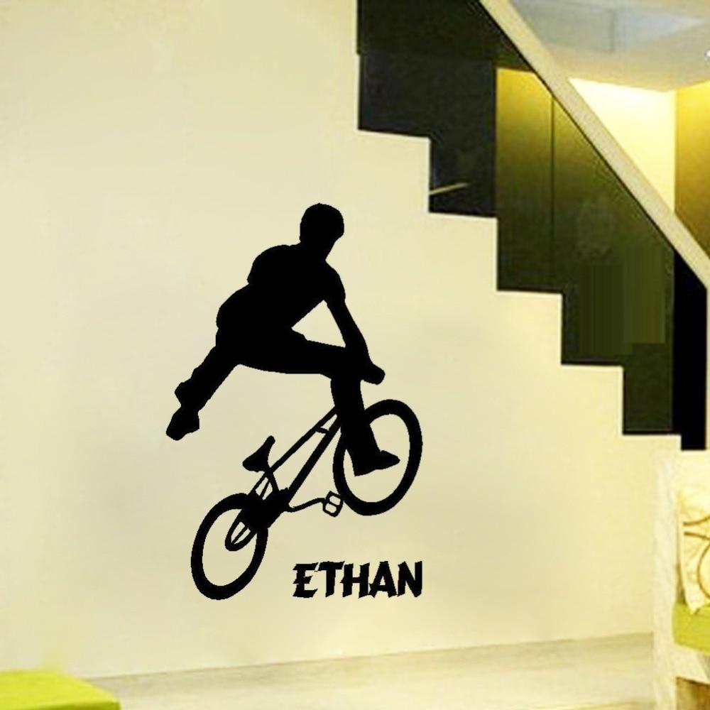 Personalized BMX Trick Teenage Wall Art Bedroom Ssticker custom Made ...