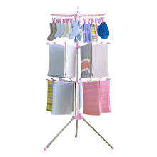 Foldable Laundry Clothes Drying Rack Multifunctional Clothes Hanger Organizer Balcony Towel Sock Rack Hanger(China)