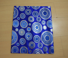 Blue&silver african style Nigerian Wedding Party Head Tie Wrap Scarf,Blue Super Jubilee Sego gele fabric for sale 2pcs lot