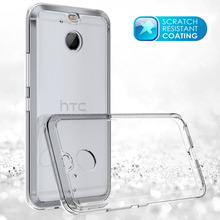 For HTC Bolt Case Ultra Thin TPU Frame Bumper Acrylic Back Case Crystal Clear Transparent Shockproof Cover For HTC Bolt/10 Evo(China)