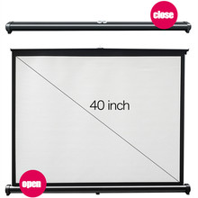 Portable Projector Screen for Business Meeting Matte White for Wall Mounted Home Theater Bar Travel Film For Projector Cheap(China)