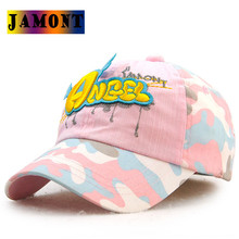 JAMONT 2017 Trend Hat Snapback Cap Children Baseball Caps Angel With Wings Cute Girls Pink Orange Adjustable Hat Bone Gorras(China)