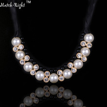 Match-Right Necklace Simulated Pearl Statement Necklaces Pendants Trendy Jewelry Multicolor Necklace Women Accessories NL517
