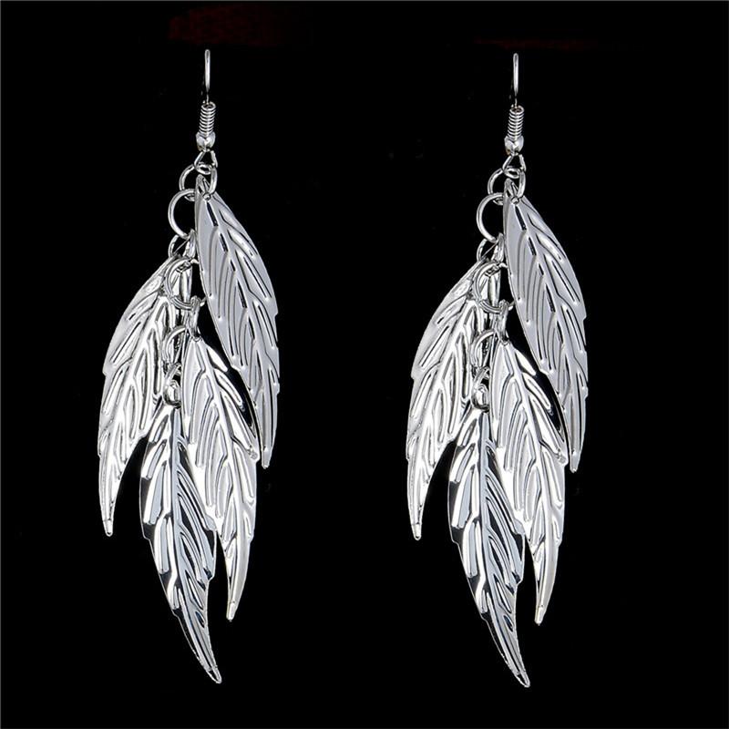H-HYDE-High-Quality-Elegant-Silver-Leaf-Drop-Earring-Women-s-Silver-Color-Dangle-Earrings-Party