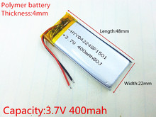 3.7V,400mAH,[402248] PLIB; polymer lithium ion / Li-ion battery for smart watch,GPS,mp3,mp4,cell phone,speaker,DVR(China)