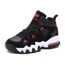 Men Baseball Shoes 2016 Hot Sale Autumn/Winter Shoes Basketball  High Top Athletic SneakersBlack Leather Design Basketball Shoes