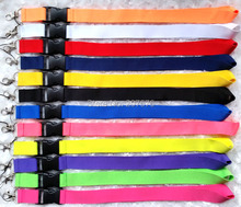 Free  shipping  150pcs mix colour  Solid  Blank Lanyard/ MP3/4 cell phone/ keychains /Neck Strap sport Lanyard WHOLESALE  ch-25