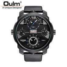 3ATM Waterproof New Men Watch HP3749 Fashion Casual Style Alloy Case Quartz Wristwatches Oulm Brand Factory Outlet Watches