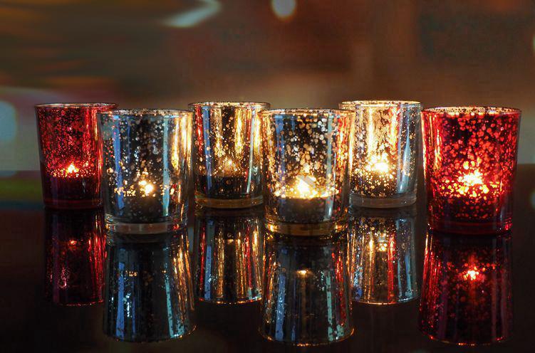 Hot Sell Mosaic Glass Candlestick Romantic Wedding Gauges European Candlestick Ktv Bar Creative Fashion Simple Home Decoration 7