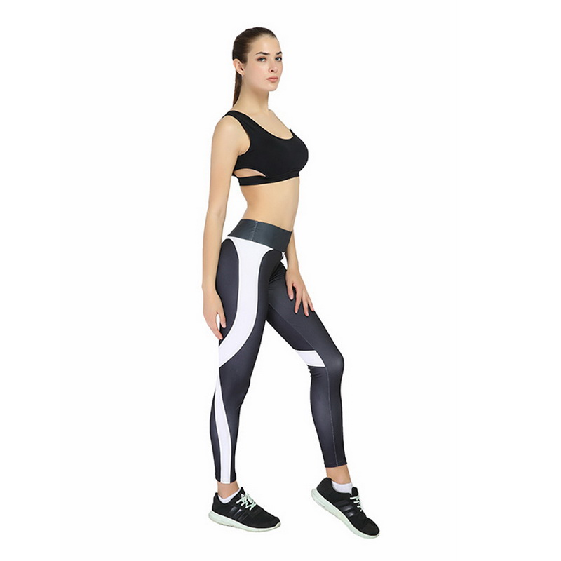 86bd4424f0b05 CALOFE Female Elastic Tight Leggings Women Breathable Middle Waist ...