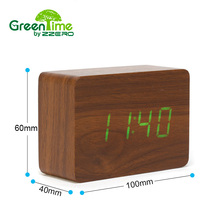 Kids Office Wooden Bamboo Triangle Alarm Clock Led Projection Wake Up Table Electronic Temperature Sounds Control Desk Modern