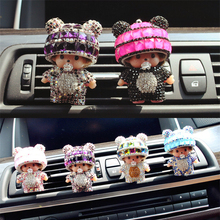 Air Freshener Panda Outlet Perfume Diamond Doll Vehicle Lovely Air cleaner Conditioning Port Car Car-styling Perfumes Original