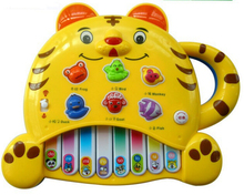 Children Educational Toys Piano Keyboard Tiger 0-3 years old Music Animal Sound(China)