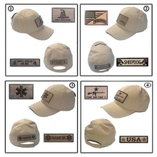high quality camouflage Hat Breathable baseball cap tactics send cockades SHOOP DOG/punisher/International relief patches