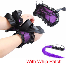 Babydoll Chemise Sexy Women Lingerie Sexy Hot Erotic Costumes Lace Mask Blindfolded Patch+Sex Handcuffs(China)