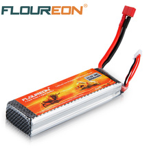 FLOUREON Lipo 3S 11.1V 3000mah 30C Deans T Plug Battery for RC Helicopter Airplane Car Truck li-polymer Rechargeable Batteries(China)