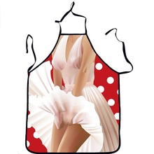 Funny Apron Sexy Marilyn Monroe Kitchen Apron Naked Girl Women Aprons Dinner Party Cooking Aporn Adult Cozinha Tablier Wholesale