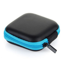 Earphone case 5 Color Mini Zipper Hard Headphone Case,PU Leather Earphone Bag,Usb Cable Organizer,Portable Earbuds Pouch box