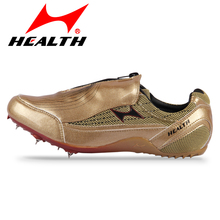 HEALTH Trail athletic Student running shoes for women ultra-light breathable gold sprint nail training sneakers for men spike