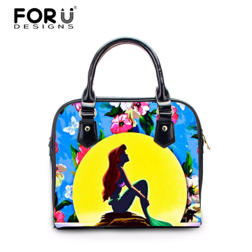 FORUDESIGNS Women Handbag Famous Flowers Designer Brand Bags Small PU Leather Female Bag Shoulder Bag Femme Casual Handbags<br>