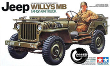 TAMIYA MODEL 1/35 SCALE military models #35219 U.S. Jeep Willys MB plastic model kit