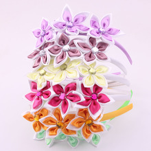 2017 Girls Summer Flower Hairbands Hair Clasp Crystal hand making fabrics hair accessories For Girls Hot Sale!!