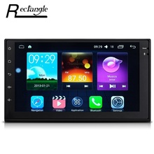 7033 Android 6.0.1 Car Radio Multimedia Player 2din GPS Navigation WiFi Support OBD DAB and RDS Radio Function Subwoofer Output(China)