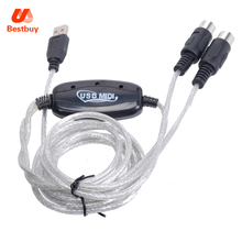 Promotion 2M Keyboard to PC USB MIDI Interface Adapter Cable(China)