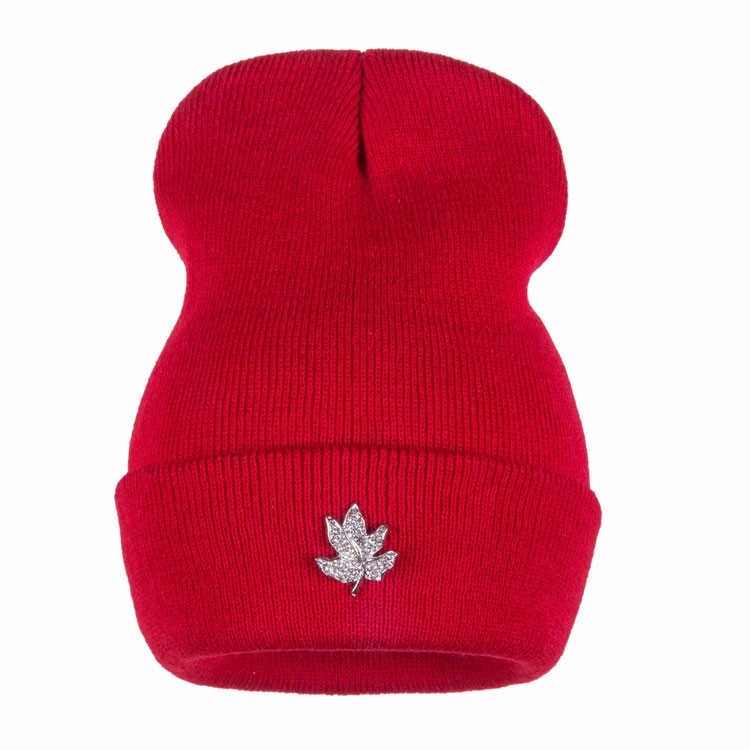 Ralferty Casual Crystal Leaf Beanie Winter Hats For Women Skullies Caps Female Chapeu Toca bonne gorras bonnet Cap Men Snowboard 10